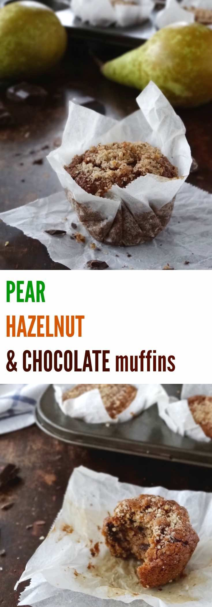 These gluten free pear, hazelnut & chocolate muffins are easy to throw together, great for breakfast or the lunch box and freeze perfectly. Eat them warm and you'll be rewarded with gooey chocolate chunks too.