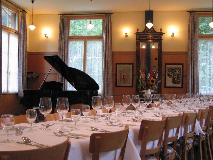 Speisesaal des Hotels Alpenhof. Bis 70 Personen