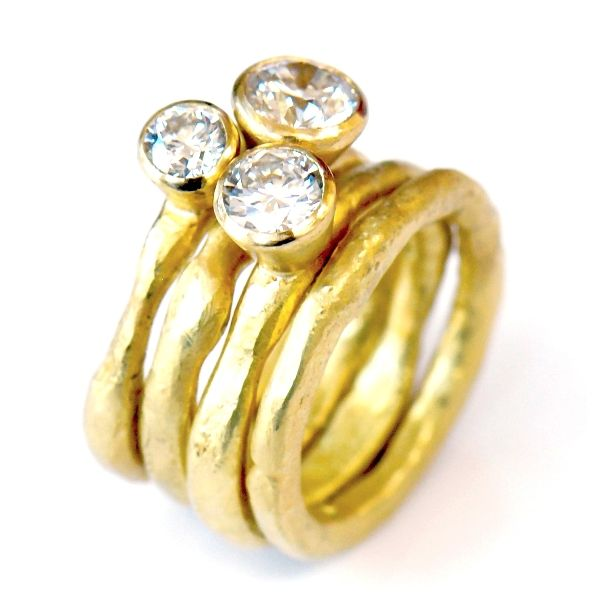 1gr983-set-of-3-18kt-gold-diamond-rings-plain-18kt-gold-band-1ct-0-8ct-0-3ct