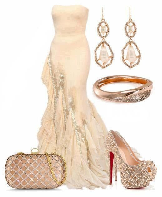 Beautiful Beige Evening Gown