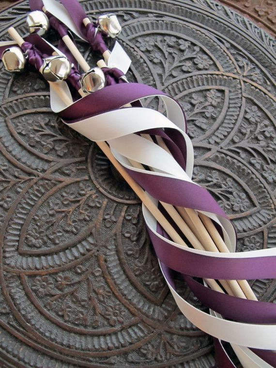 100 Wedding Wands Double Ribbon With Bell