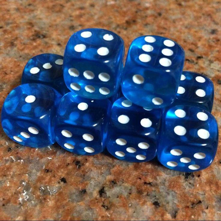 10 Stks/set 16mm Clear Drinken Dobbelstenen Acryl Transparante Ronde Hoek Dobbelstenen Draagbare Tafel Playing Games 7 Kleur