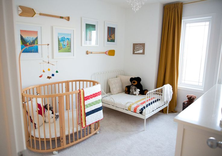 Inspire a love of adventure in your little one in this cute outdoor themed nursery.
