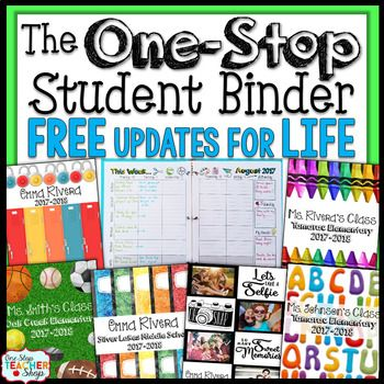 This Student Agenda is Editable and Customizable! The One Stop Student Binder offers lots of useful forms, predated weekly agenda pages, gorgeous cover designs, and calendars to use throughout the year. Perfect for ALL ages! Can be used by PARENTS, TEACHERS, or