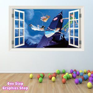 1Stop Graphics - Shop Peter Pan Wall Sticker Full Colour - Boys Girls Disney Tinkerbell Window C209 - Size: Large:Amazon.co.uk:Kitchen & Home