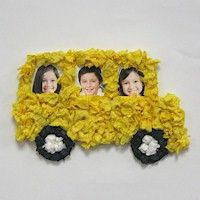 Tissue Paper School Bus Frame Fun idea for a bulletin board