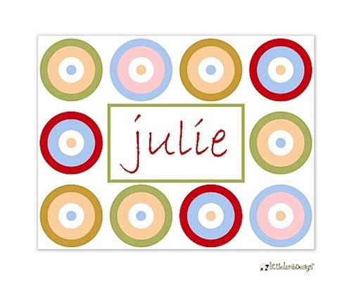 Little Lamb Design Fun Concentric Circles Folded Notecard
