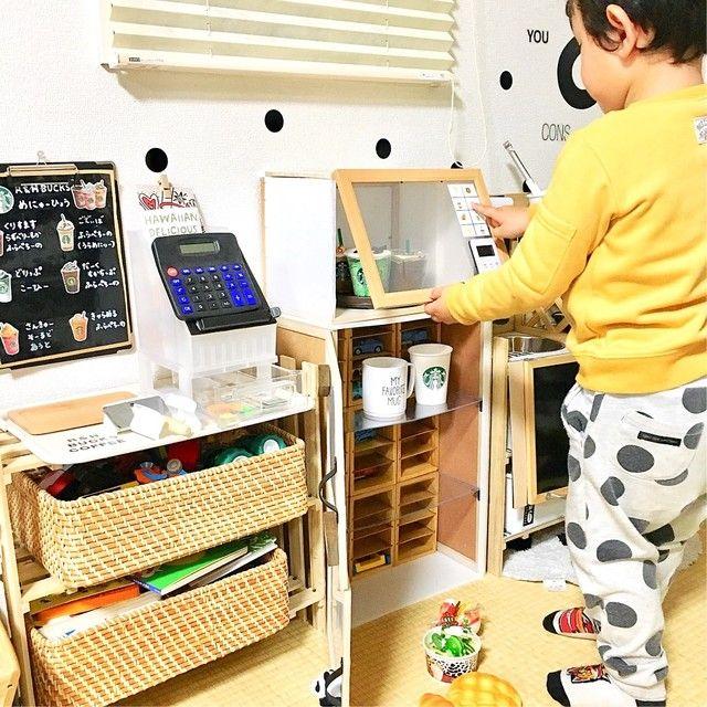 100均diy 子どもが喜ぶ ターンテーブル付きのおままごと用レンジ 100均 Diy 手作り おもちゃ キッチン ままごと