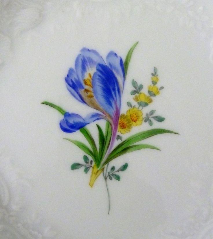 Meissen Teller, Neumarseille , Blumen Dekor, Durchmesser =15,5 cm, #2 | eBay