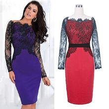 W30809H europe style sexy lace pencil dress long sleeve ladies dress 2015 Best Seller follow this link http://shopingayo.space