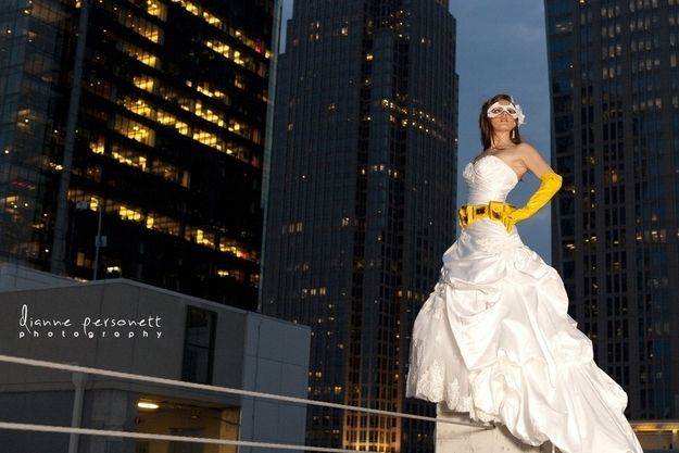 Scenes From A Batgirl And Nightwing Themed Wedding