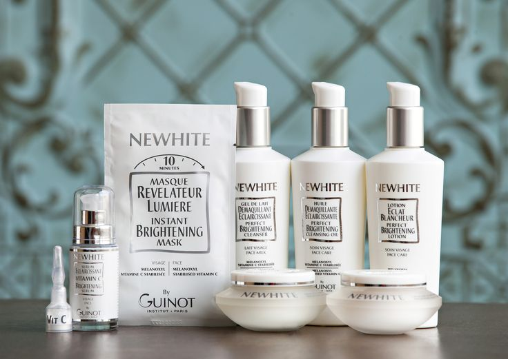 NEW! Guinot NEWHITE Perfect Brightening Skincare line with Vitamin C. Goodbye sun spots!