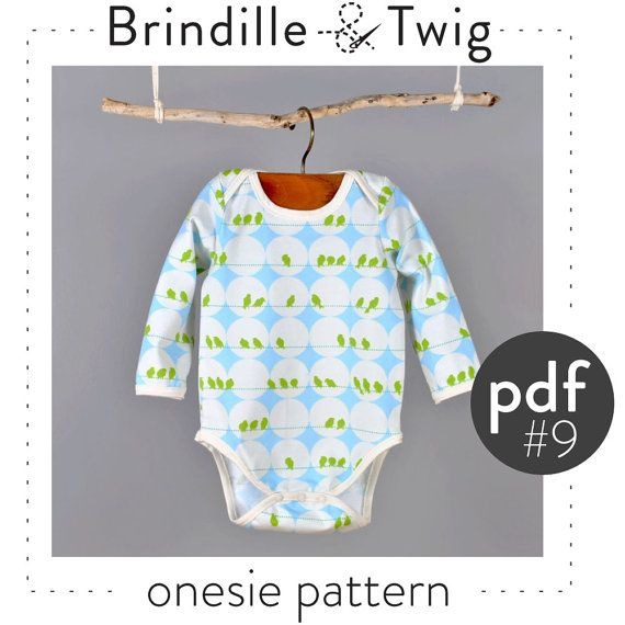 Baby Onesie Pdf Pattern Short And Long Sleeve Sizes 0 3m