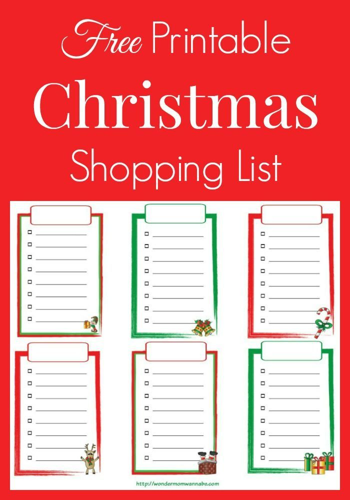 This free printable Christmas shopping is an easy and festive way to organize your holiday shopping.