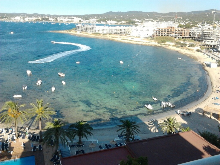 San Antonio bay in Ibiza