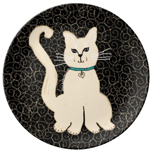 Hey Pretty Kitty Decorative Plate -Julie Everhart