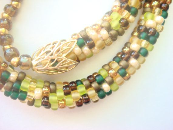 Necklace associated from Miyuki Japanese  beads by Vasilisinsunduk
