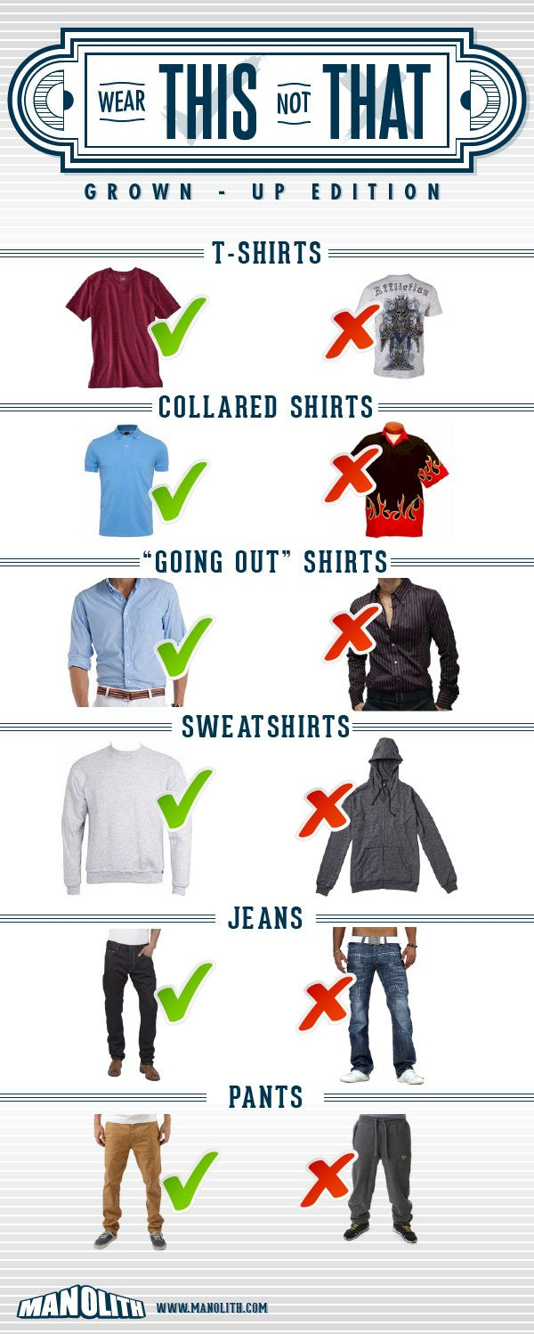 Good tips for smarter casual style, though I'm game for a good zip-up hoodie from time to time.