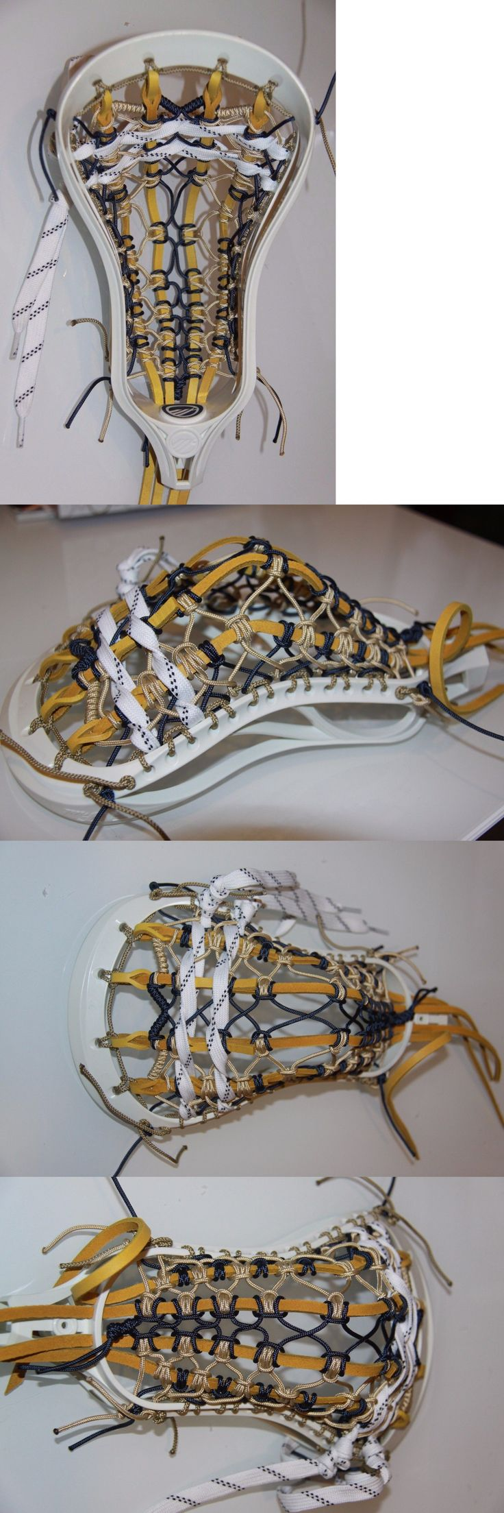 Sticks 62165: New Maverik Frat Mens Lacrosse Head Custom Strung Traditional Notre Dame Irish BUY IT NOW ONLY: $54.28
