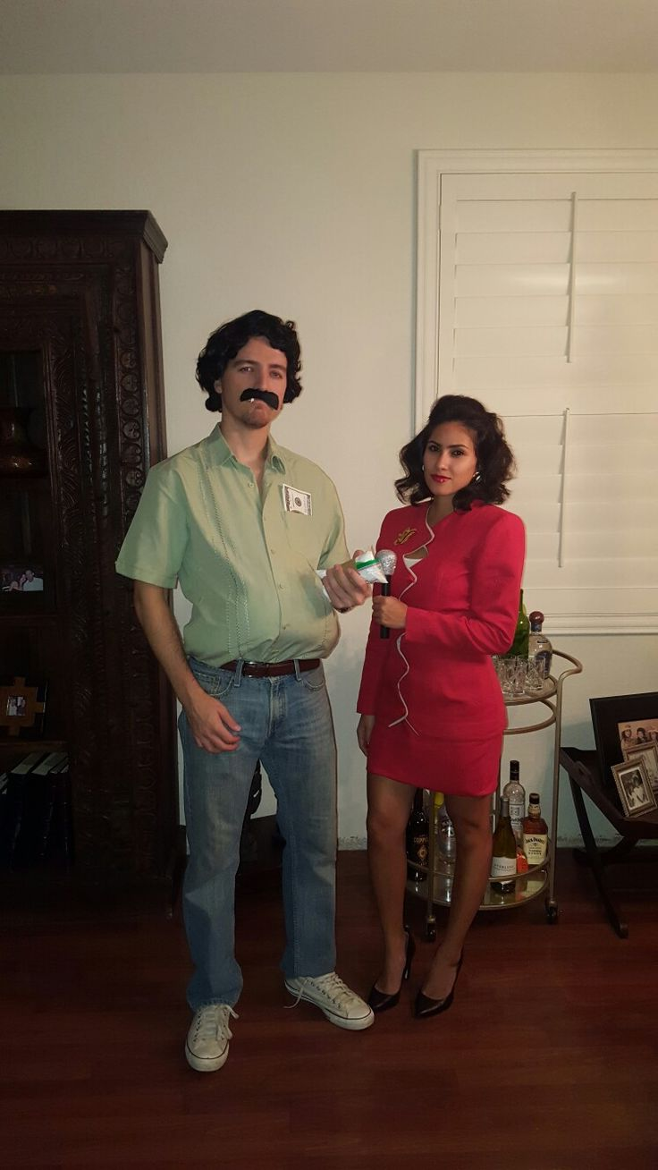 Pablo Escobar and Valeria from Netflix Series Narcos. Couple Costume
