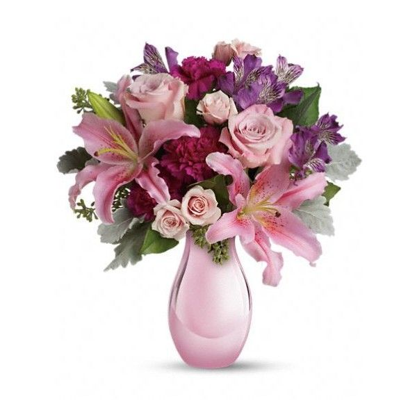 Enchanting Pinks by Teleflora Flowers ($4.99) ❤ liked on Polyvore featuring flowers and decor