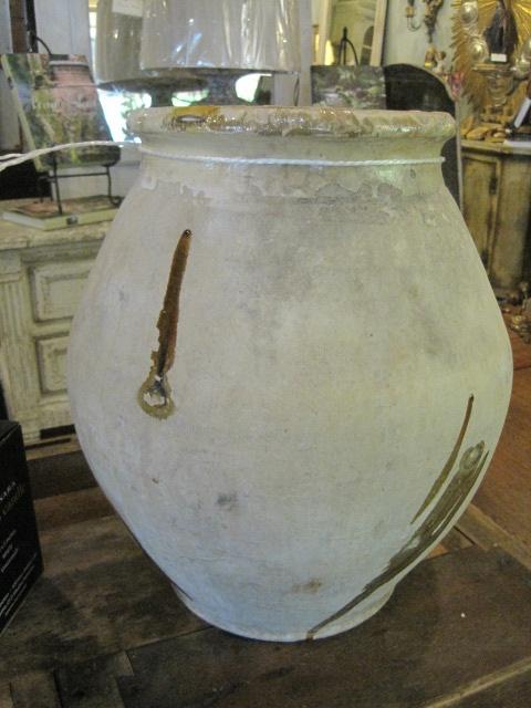 Large Antique Terracotta Olive Jar Pottery For Sale