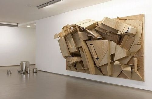 Large scale cardboard installation by Florian Baudrexel / Tobias Hantmann