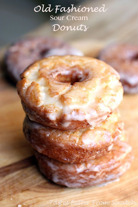 Old fashioned sour cream donuts are perfectly soft and sweet.