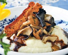 Cauliflower Purée with Mushroom Compote