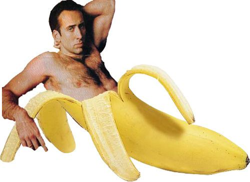 If you have ever wanted to see Nicholas Cage being seductive in a Banana peel, you are in luck. @Dakota Marsman @Emily Dick