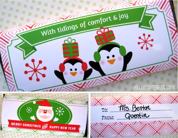 Exclusive Free Printable Candy Bar Wrappers Christmas