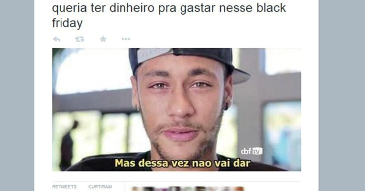 Internautas criam memes sobre a Black Friday nas redes sociais