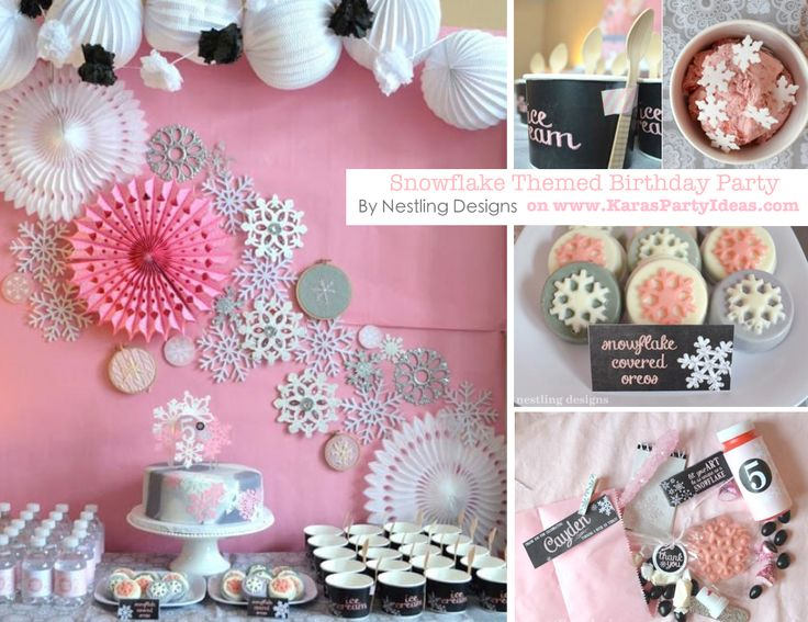 Snowflake themed birthday party