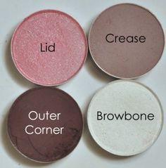 MAC Pink Venus, MAC Quarry, MAC Embark, MAC White Frost