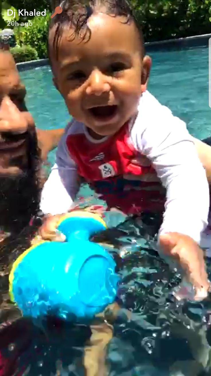 DJ Khalid's son Asahd learns to swim 9 months JULY 25 2017