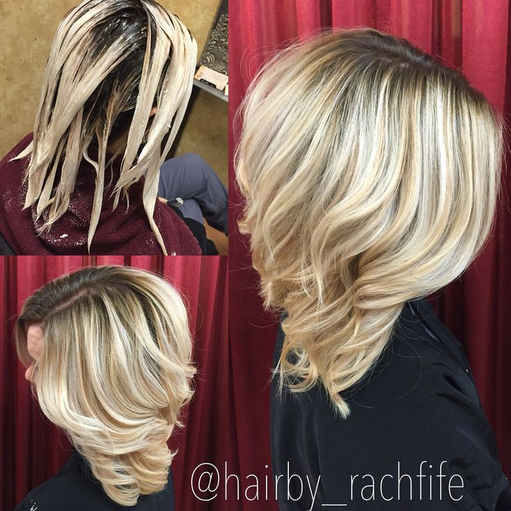 Stretched root bright blonde balayage Hair by Rachel Fife ...