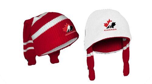 Hockey Sockey Toque - made with hockey socks!