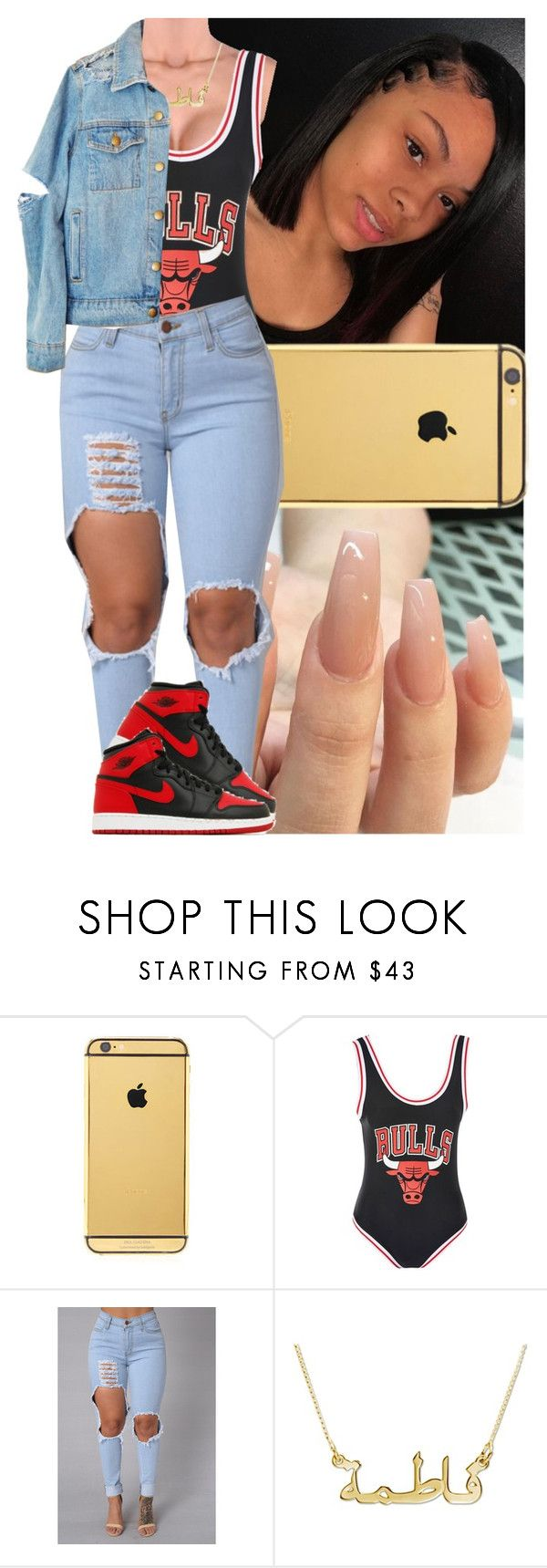 """Untitled #1584"" by msixo ❤ liked on Polyvore featuring Goldgenie, Topshop and NIKE"