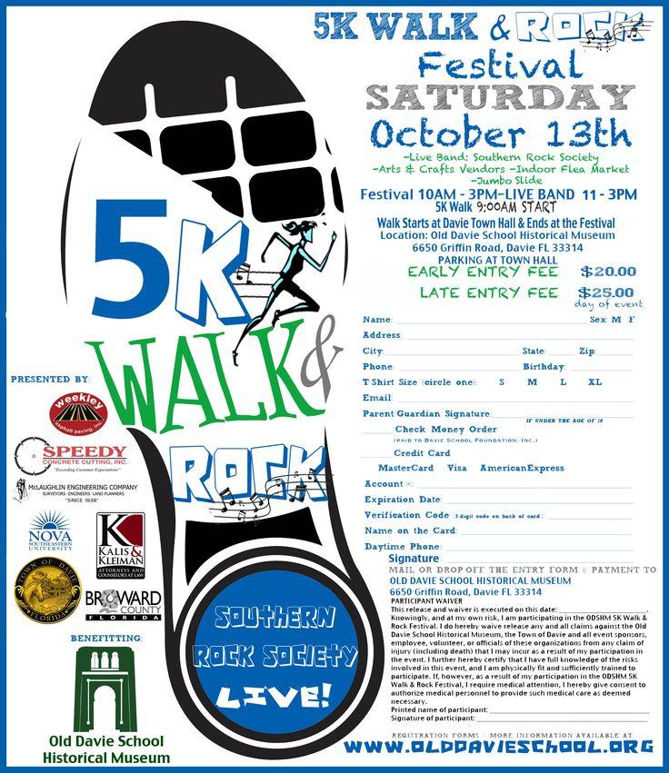 5k walk flyer