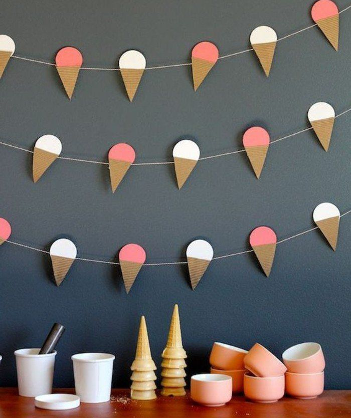 ice cream cone garland diy oh happy day!