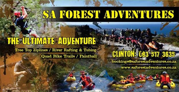 SA Forest Adventures - On a farm just outside Hermanus on the Hemel-en Aarde Road (R320) is SA Forest Adventures where you can try your hand at quad biking, go-karting, tree top slides, rafting or paintball.