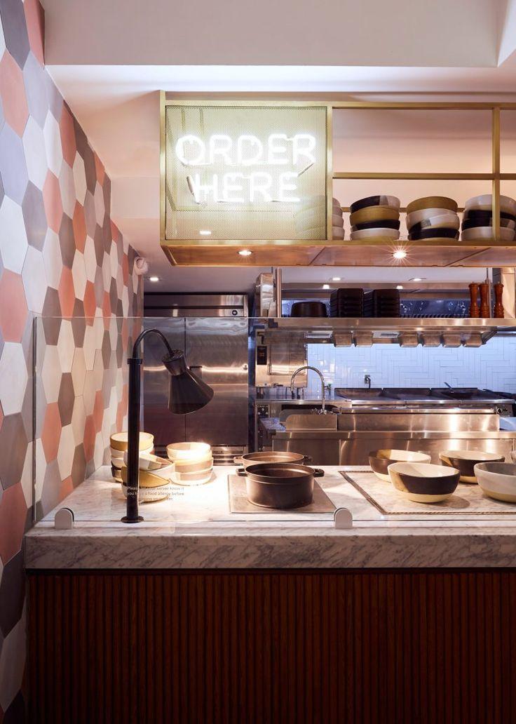 ASH NYC Adds Pops Of Pink To Dig Inn Boston Restaurant Open KitchensSemi KitchenHospitality DesignBoston InteriorsAmerican