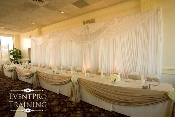 Head Table Decorations Wedding Reception Wedding Dress: How To Make A Burlap Table Swag - Google Search