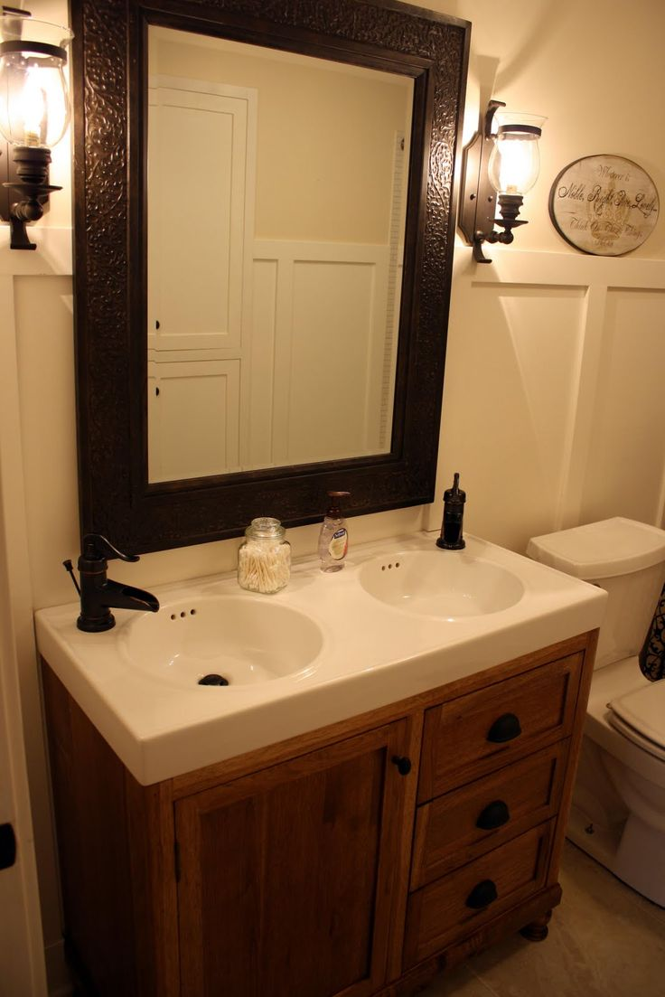 decoration witching primitive bathroom light fixtures using wall mounted  lanterns beside hammered bronze mirror over integrated double sink vanity  top above ...