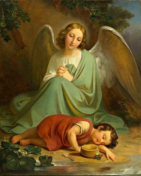 guardian-angel-protecting-the-sleep-of-a-child.jpg (492×615)