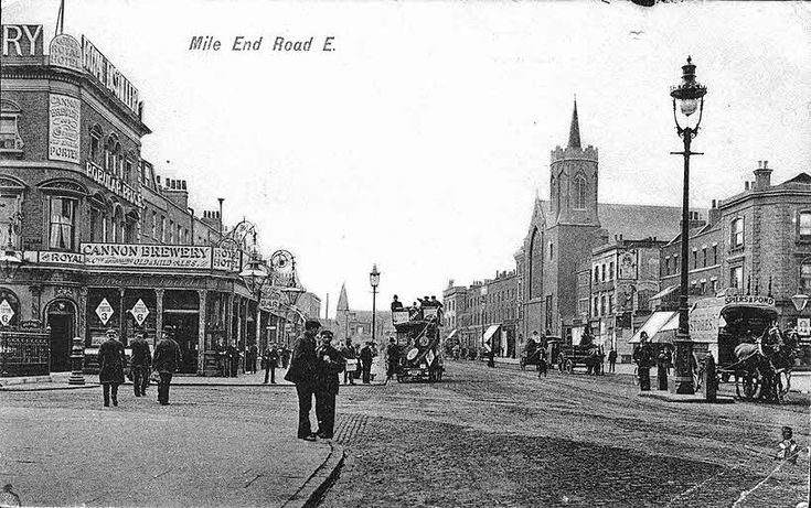 Mile End Road junction of Burdett Road