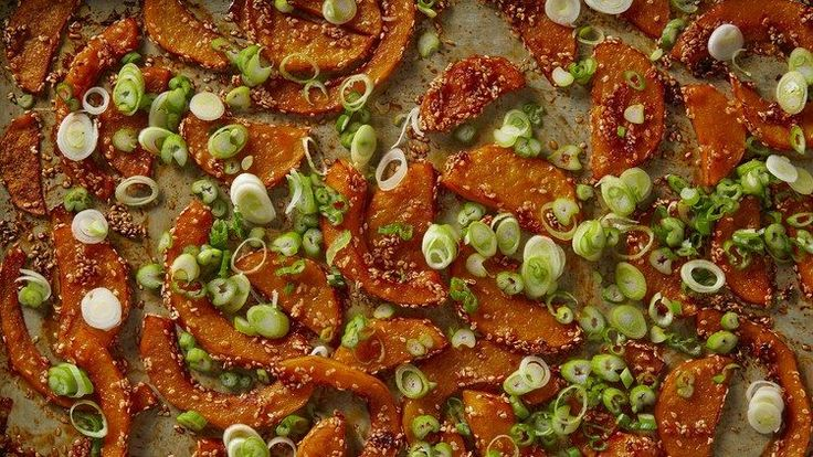 Gochujang-and-Sesame-Roasted Winter Squash Recipe | Bon Appetit