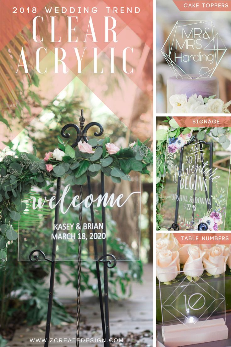 1032 best 2018 spring and summer wedding trends images on pinterest 2018 wedding trends clear acrylic sign table numbers and more handmade junglespirit Choice Image
