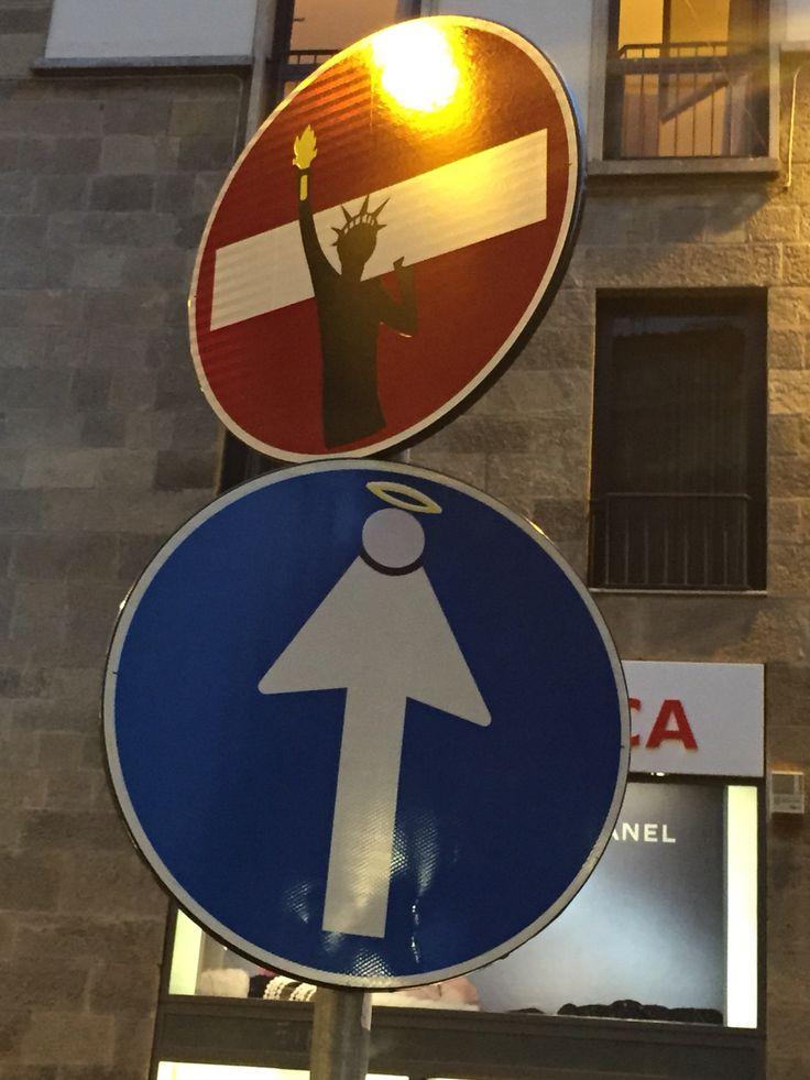 Florence street signs !! #streetart