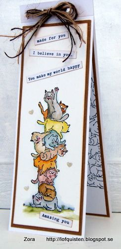 Art Impressions Rubber Stamps: Ai Stackers: Cat Stackers: handmade tall card..